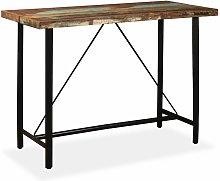 Asupermall - Mesa alta de bar de madera maciza