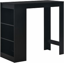 Asupermall - Mesa alta de cocina con estanteria