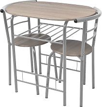 Asupermall - Mesa alta de cocina o bar y taburetes