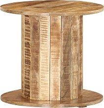 Asupermall - Mesa auxiliar redonda madera maciza