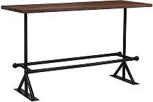 Asupermall - Mesa de bar madera maciza reciclada