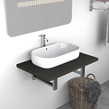 Asupermall - Mueble de cuarto de bano gris