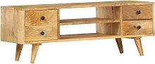 Asupermall - Mueble para TV de madera maciza de
