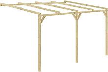 Asupermall - Pergola cobertizo de madera 4x3x2,1 m
