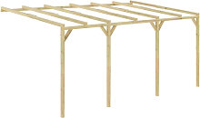 Asupermall - Pergola cobertizo de madera 5x3x2,1 m