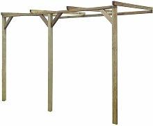 Asupermall - Pergola cobertizo madera FSC 2x3x2,2 m