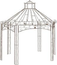 Asupermall - Pergola de jardin marron antiguo
