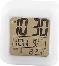 Asupermall - Reloj despertador cuadrado con cambio