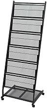 Asupermall - Revistero 47,5x43x133 cm negro A4
