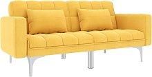 Asupermall - Sofa cama de tela amarillo