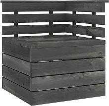 Asupermall - Sofa esquinero de pales para jardin