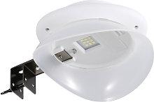Asupermall - Solar Barda forma de la lampara LED
