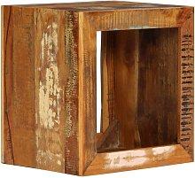 Asupermall - Taburete de madera maciza reciclada