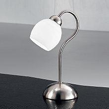 Atractiva lámpara de sobremesa Doma satén