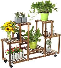 Augienb - Estante de flores de madera Estante de