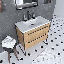 Aurlane - Mueble de baño de 80 x 50 cm – Lavabo