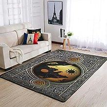 AXGM Alfombra moderna para salón, dormitorio,