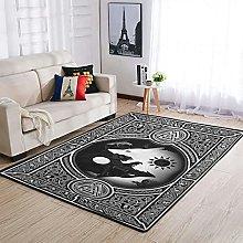 AXGM Vikingo Yin Yang Wolf Alfombra suave alfombra