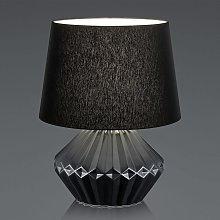 B-Leuchten Kera lámpara de mesa tulipa textil 46cm