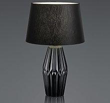 B-Leuchten Kera lámpara de mesa tulipa textil 58cm