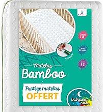 Babysom - Colchón Cuna Bebé Bambú + 1 Protector