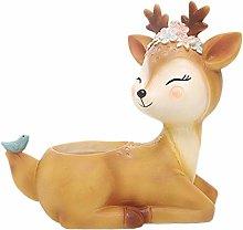 Baihua - Maceta de resina de ciervos de dibujos