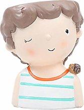 Baihua - Maceta de resina natural para niños,