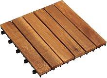 Baldosas de porche 10 piezas acacia patrón