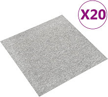 Baldosas de suelo de moqueta 20 uds 5 m2 50x50 cm