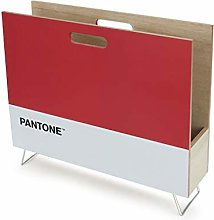 Balvi Revistero Pantone Color Rojo Decorativo