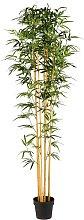 Bambú artificial de exterior en maceta