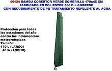 bambu cobertor verde sombrilla 170x45 cm poliester