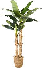 Banano artificial con maceta