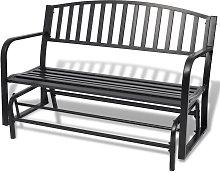 Banco balancín negro de acero - Negro - Vidaxl
