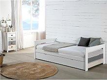 Banco-cama nido CELIANE - 2x90x190cm - MDF - Blanco