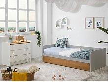 Banco-cama nido JULIETTE - 2x90x190cm - MDF - Gris