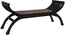 Banco de abacá marrón oscuro 120 cm - Hommoo
