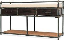Banco de almacenamiento con cojin 107,5x34,5x59 cm