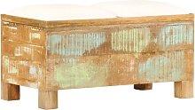 Banco de almacenamiento de madera reciclada maciza