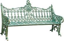 Banco de estilo Art Nouveau de hierro moldeado