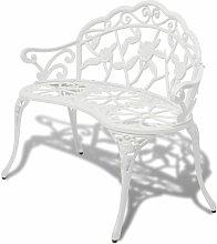 Banco de jardin 100 cm aluminio fundido blanco