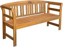 Banco de jardin 157 cm madera acacia maciza