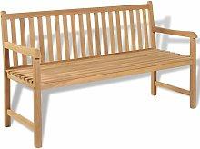 Banco de jardin de madera de teca 150 cm