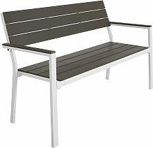 Banco de jardín Line - gris claro/blanco