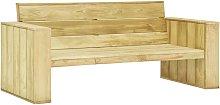 Banco de jardín madera de pino impregnada 179 cm