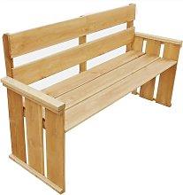 Banco de jardín madera pino impregnada 160 cm -