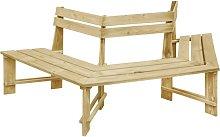 Banco de jardín madera pino impregnada 240 cm -