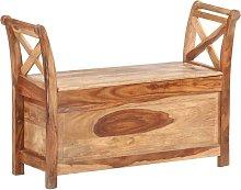 Banco de madera maciza de sheesham 103x33x72 cm -