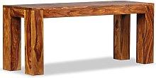Banco de madera maciza de sheesham 110x35x45 cm -