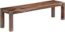 Banco de madera maciza de sheesham gris 160 cm -